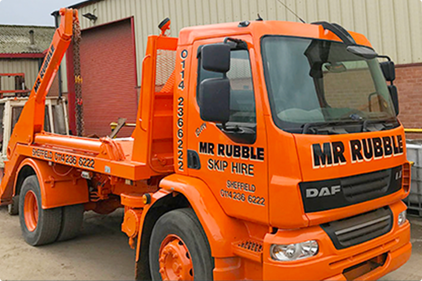 Mr Rubble skip hire wagon